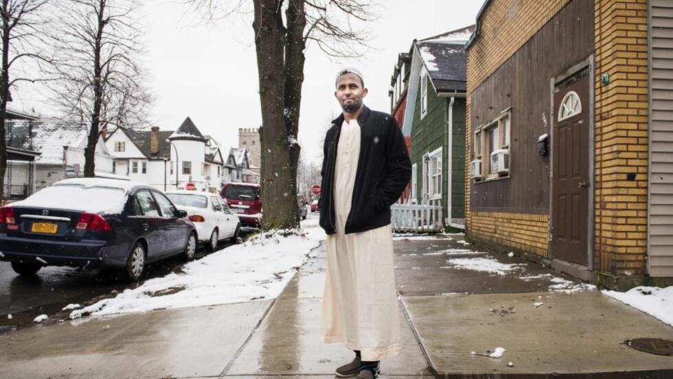 FRAMME: Somalieren Mohamed Ibrahim (22) vokste opp i Kenya før han kom som overføringsflyktning til USA for sju år siden. I Kenya lærte han engelsk og fikk en god skolegang. Farmasøytstudenten har slått seg til ro i Buffalo, og har tenkt å bli der. Foto: Lars Eivind Bones / Dagbladet