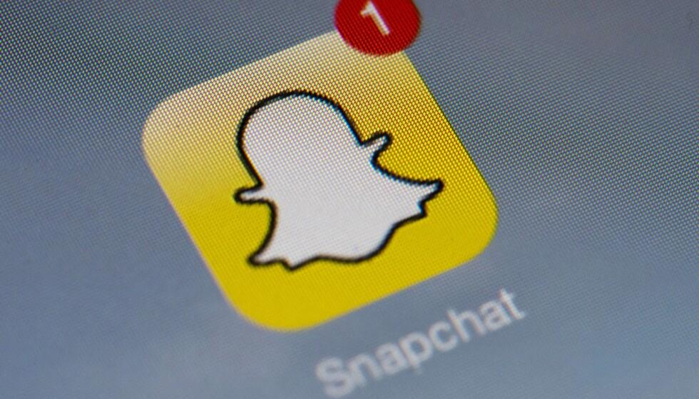 SNAPCHAT: Nasjonale prøver i Sverige spres blant elever på Snapchat. Dette er andre gang på kort tid.     AFP PHOTO / LIONEL BONAVENTURE