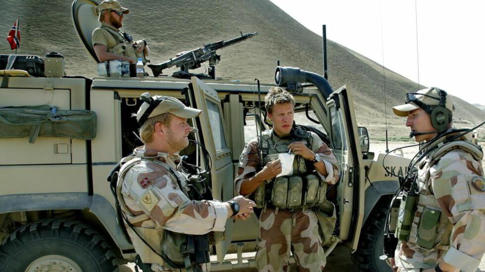 MOT IS: Norske soldater fra Telemarksbataljonen på jobb i Faryab-provinsen i Afghanistan. Nå skal norske styrker settes inn i Syria i krigen mot IS. Foto: Jacques Hvistendahl