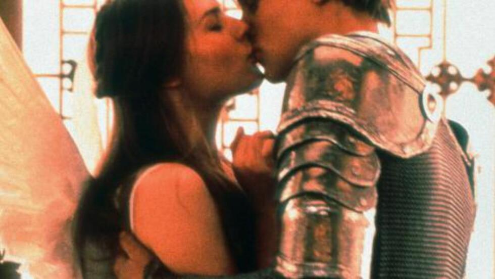 POPULÆR: Claire Danes og Leonardo diCaprio i «Romeo + Juliet» fra 1996, Baz Luhrmanns filmatisering av Shakespeares berømte kjærlighetshistorie.