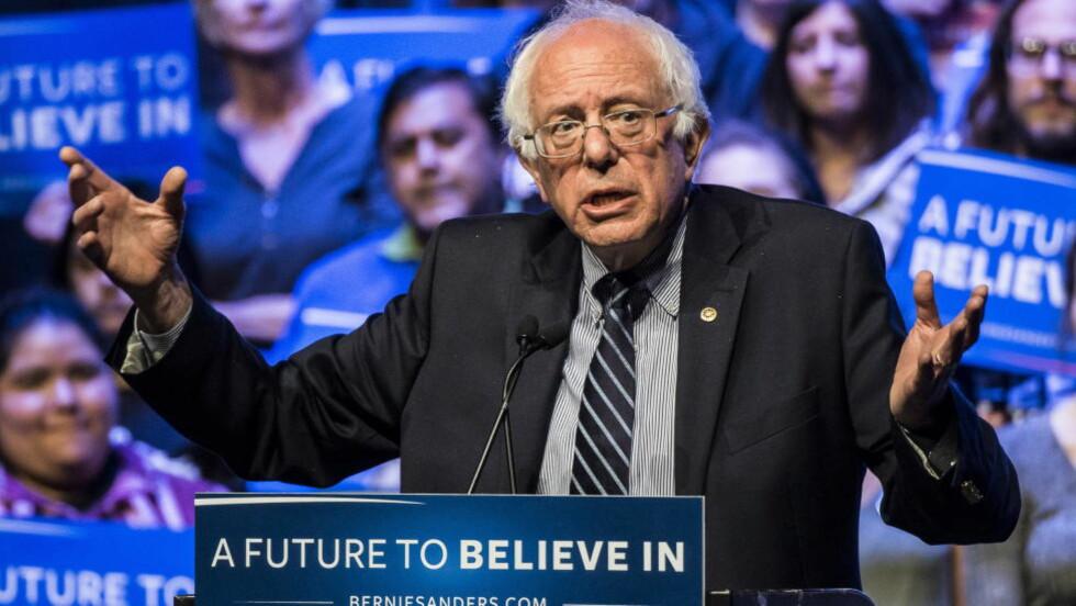 TRO:  Bernie Sanders? «spiritualitet» handler bare om ting som skjer her på jorda, mellom mennesker.  Foto: Lars Eivind Bones / Dagbladet