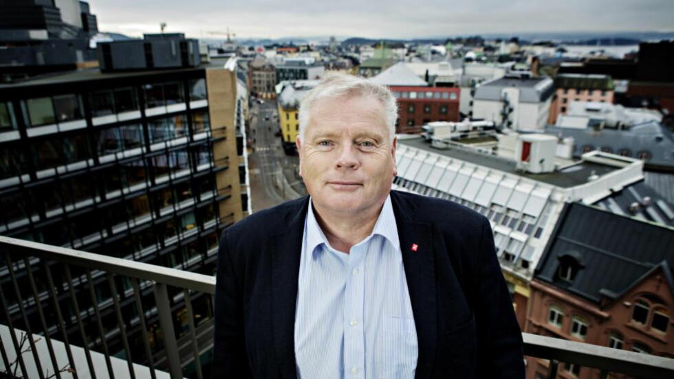 Oslo, 20131107. Jan Davidsen går av i Fagforbundet. Intervju på kontoret Foto: Nina Hansen / Dagbladet
