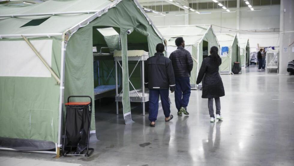 GOD PLASS: Før jul merket man en betydelig nedgang ved ankomstmottaket i Råde i Østfold. I januar i år kom bare 384 asylsøkere til Norge. Foto: Heiko Junge / NTB Scanpix