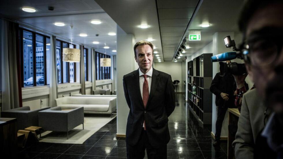 ATOMVÅPENFRI VERDEN? Børge Brende svarer på Dagbladets leder om regjeringens holdning til nedrustning. Foto: Christian Roth Christensen / Dagbladet