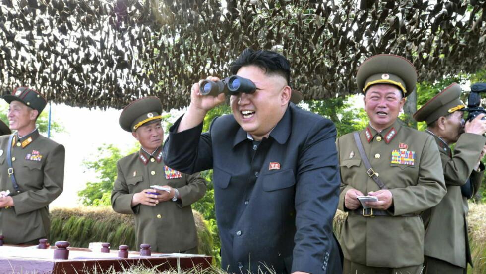 LER IGJEN: Kim Jong-un fra et arkivbilde fra 2014. Foto: REUTERS / KCNA / NTB Scanpix