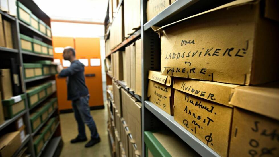 OMSTILLING: Riksarkivet på Kringsjå ved Sognsvann i Oslo. Arkivet er blitt underlagt en omstridt omorganisering som vekker sterk motstand. Foto: Jan T. Espedal / NTB Scanpix