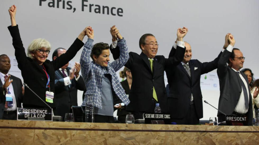 Feiring av Paris-avtalen. Foto: ENB/IISD.