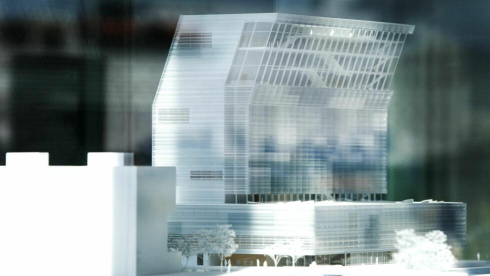 TI ÅRS BEHANDLING: Blir Lambda, her i form av en modell, bygget, eller skal Munchmuseet forbli på Tøyen? Foto: NTB Scanpix