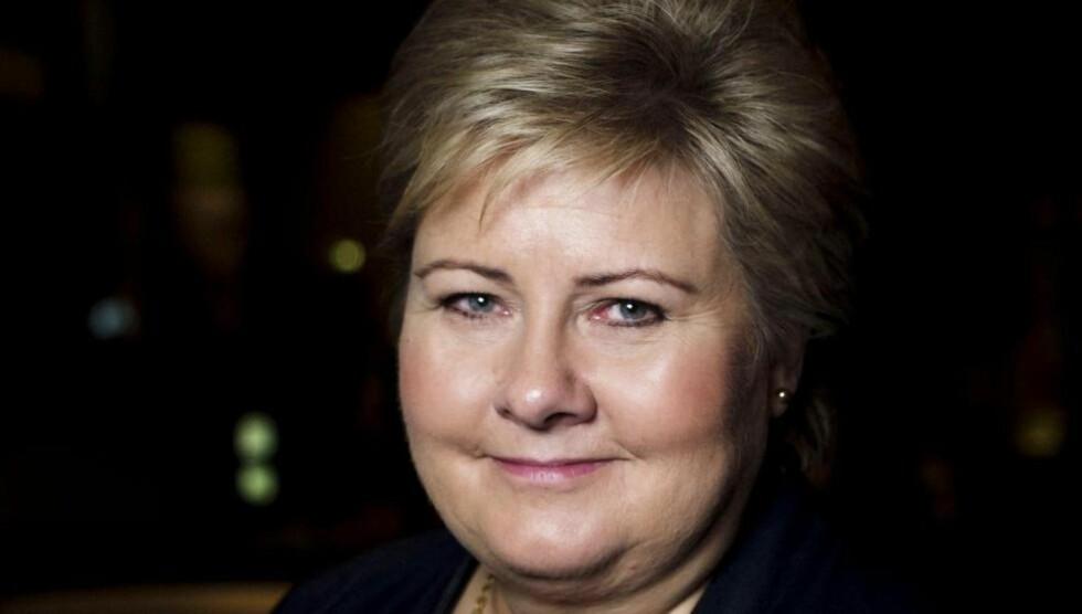 PRESSET:  Statsminister Erna Solberg (H).