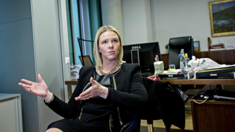 """STOR PATOS:  Sylvi Listhaug frykter """"godhetstyranniet"""". Foto: Torbjørn Berg / Dagbladet"""