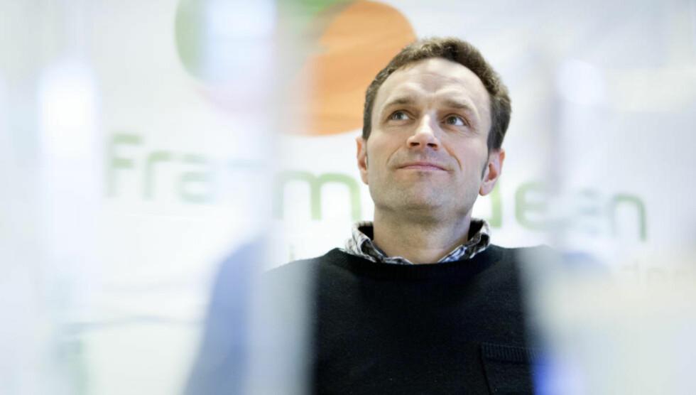 Arild Hermstad, leder i Framtiden i våre hender (FIVH) tok til orde for et grønt regjeringsalternativ i 2016. Foto: Thomas Winje Øijord / Scanpix