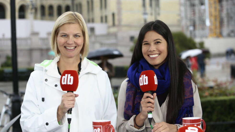 Guri Melby (Venstre) vil at de grønne partiene skal gå inn i forpliktende samarbeid med de store partiene, her er hun sammen med De Grønnes Lan Marie Ngyen tidligere i høst. Foto: Nina Hansen / Dagbladet