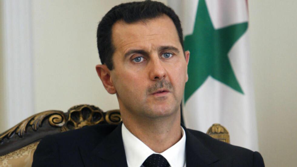 TO KANDIDATER:  For at Syria skal ha en meningsfull mulighet til å bli en stat og et ordnet område, må noen vinne krigen, i den mening at noen etablerer udiskutabel militær kontroll. I dagens situasjon er det bare to kandidater til en slik rolle, og det er Islamsk stat eller det er Assad-regimet, skriver Helge Lurås. Bildet viser Bashar al-Assad.  Foto: NTB scanpix