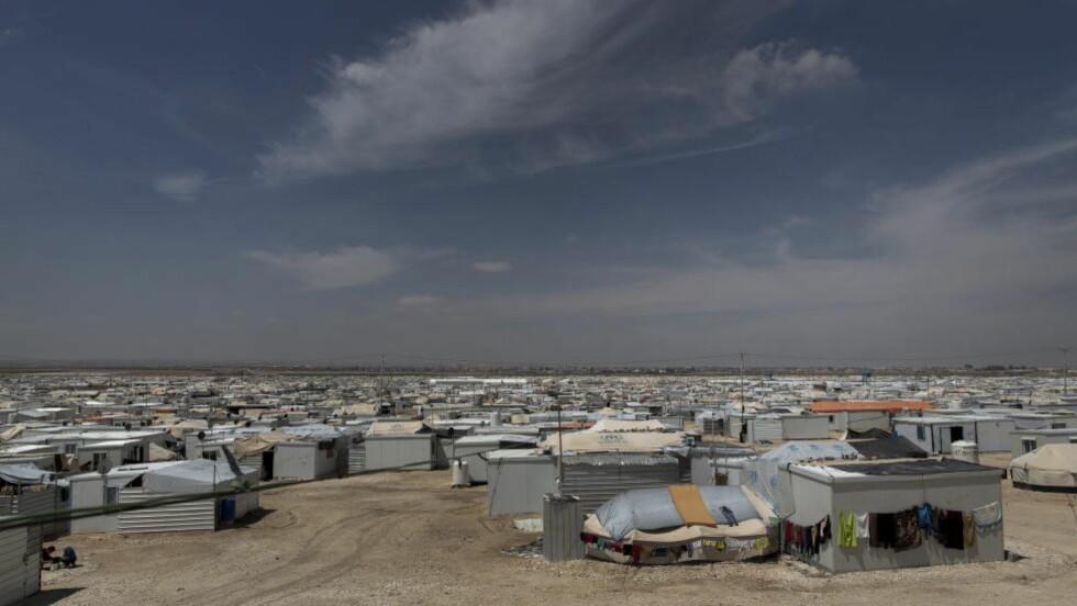 LEIR: Verdens nest største flyktningeleir heter Zaatari og ligger nord i Jordan. Her bor opp mot hundre tusen syriske flyktninger. Foto: TOMM W. CHRISTIANSEN