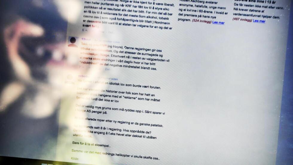 VOLDSPOTENSIALE:  For noen dager siden ble det baluba rundt en facebookgruppe kalt «Fedrelandet viktigst». Norsk høyreekstremisme er dårlig organisert, men det finnes et åpenbart voldspotensiale, skriver Øyvind Strømmen. Foto: Dagbladet