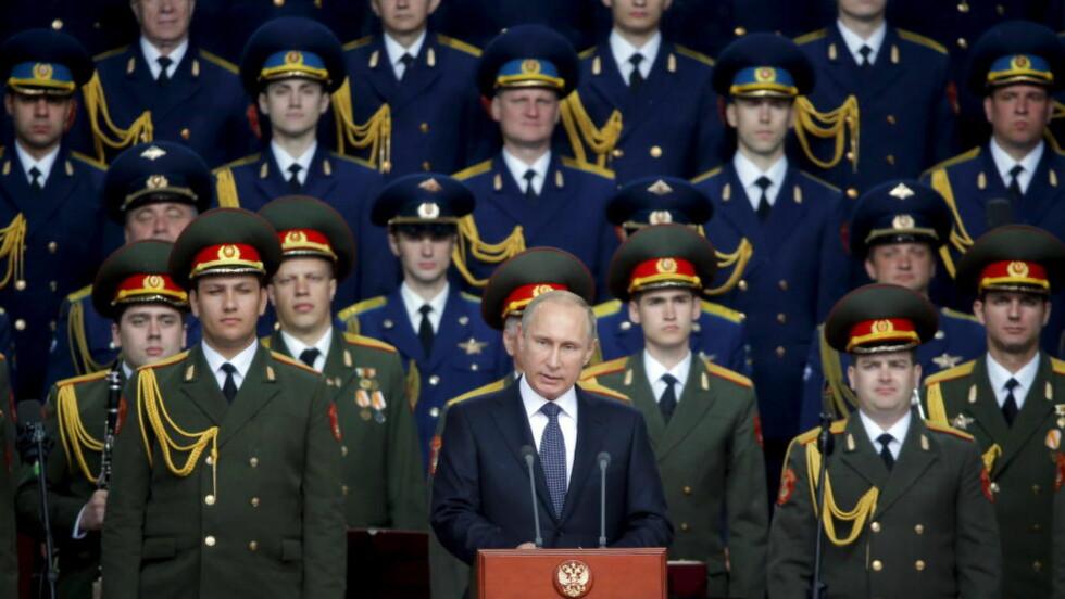 DEMONISERT? Det er utrolig at underskriverene av «kringsfareoppropet» ikke innser Putins «djevelske» strategi, skriver Hans-Wilhelm Steinfeld.Foto: Maxim Shemetov/REUTERS/NTB Scanpix