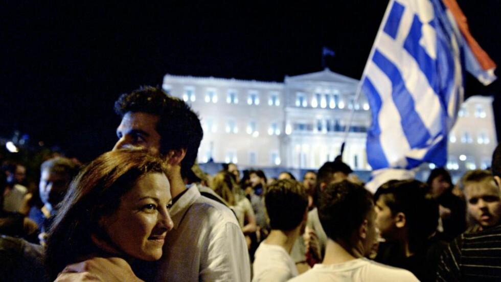FEIRET:  Grekerne stemte massivt nei til EUs kreditorforslag. Det må Angela Merkel og de andre EU-lederne ta hensyn til, skriver Dagbladets kommentator. Foto: John Terje Pedersen