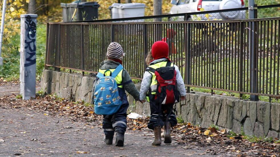 SÅRBARE: Man ikke kan flytte ungen sin fra barnehage til barnehage for å finne det beste tilbudet, skriver artikkelforfatteren. Foto: Geir Bølstad/ Dagbladet