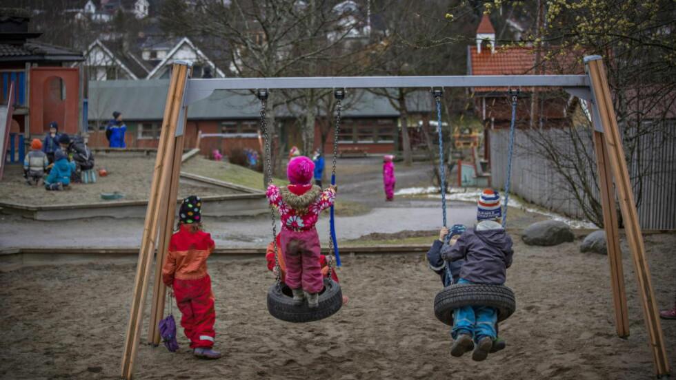 BARNEHAGER: Rundt halvparten av landets barnehager er private. Så lenge foreldrene kan velge barnehage for sine barn, er det en fordel, skriver Aksel Braanen Sterri. Foto: Jørn H Moen / Dagbladet