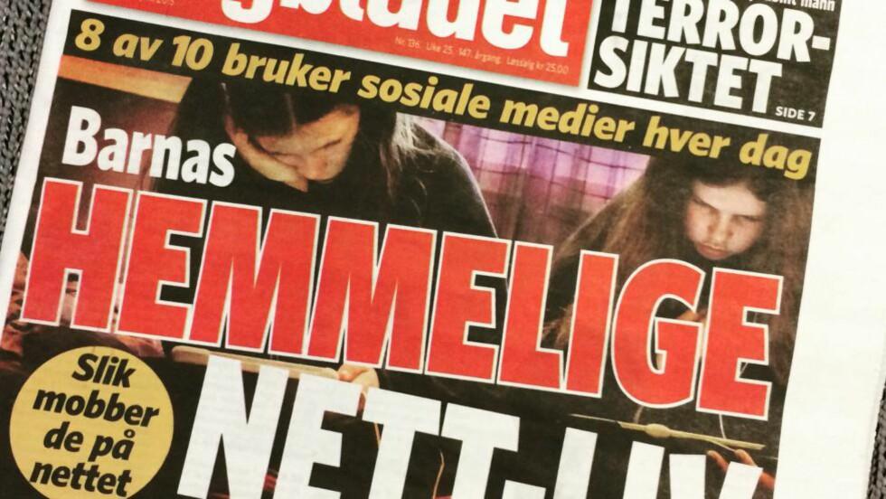 DAGBLADET I GÅR: Avisa setter i en serie søkelys på norske barns og tenåringers liv på nettet - noe som både åpner for nye og verdifulle fellesskap og ødeleggende mobbing.