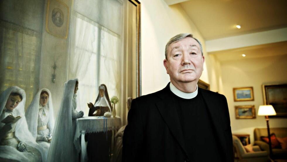 NEKTER STRAFFSKYLD:  Biskop i Den katolske kirke, Bernt Eidsvig, er siktet for grovt bedrageri. Foto: Nina Hansen / Dagbladet.