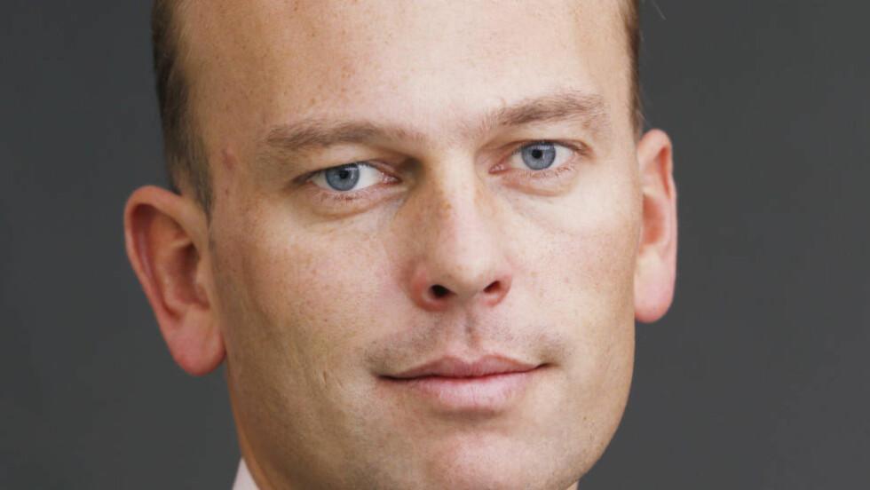 Statssekretær Kristian Dahlberg Hauge (Frp)  lurer på om Ap tror at arbeidsledighet styrker sjansen for boliglån. Foto: Cornelius Poppe / NTB scanpix