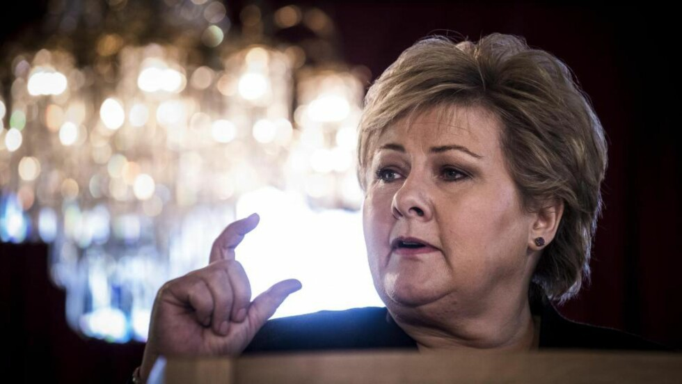 BITTELITT: Iskanten har flyttet seg, sa Erna Solberg og utvidet grensa for oljeutvinning.