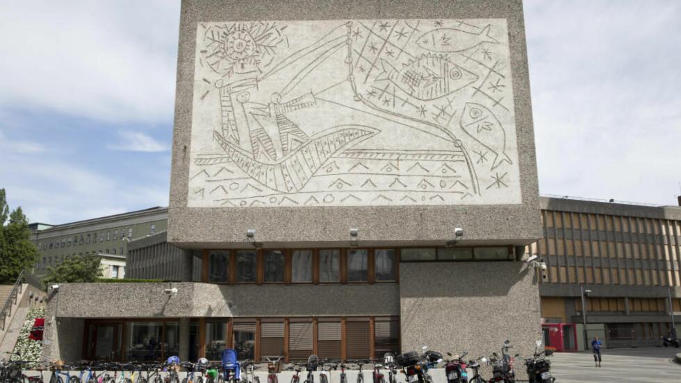 Picasso-kunsten  på Y-blokka i Regjeringskvatalet vil forsvinne dersom regjeringen river bygget. Foto: Håkon Mosvold Larsen / NTB scanpix