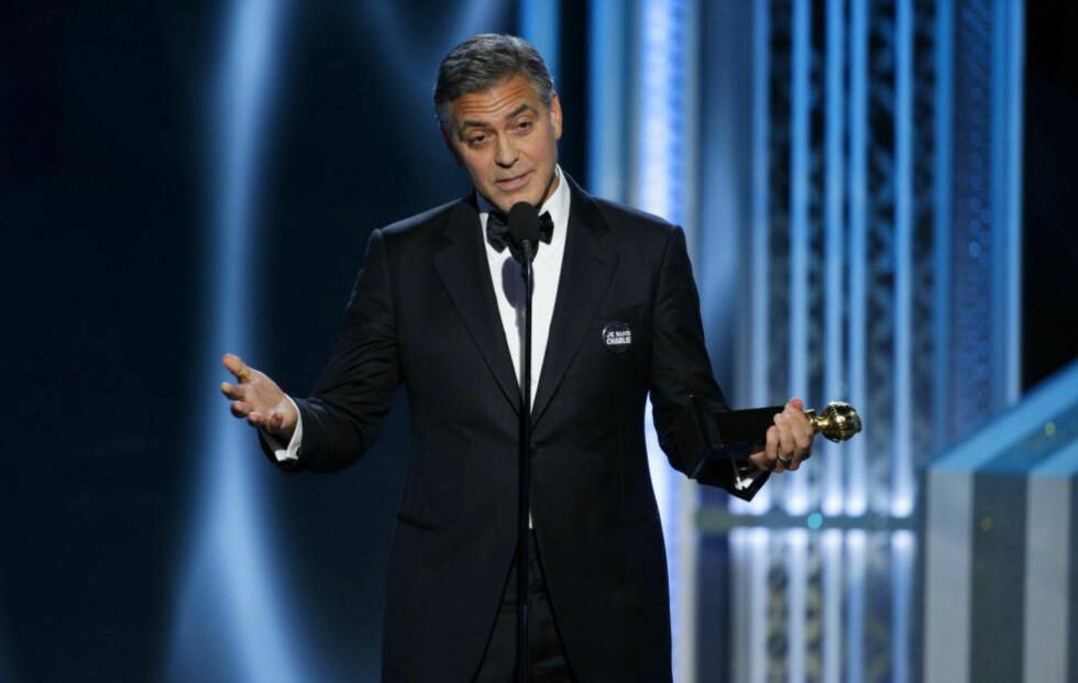 ALLE ER VINNERE: Morten Tyldums film forble tomhendt, men han kan godt lytte til George Clooney, som fra scenen sa at alle de nominerte var i en unik situasjon og måtte se på seg selv som vinnere. Foto: Scanpix.