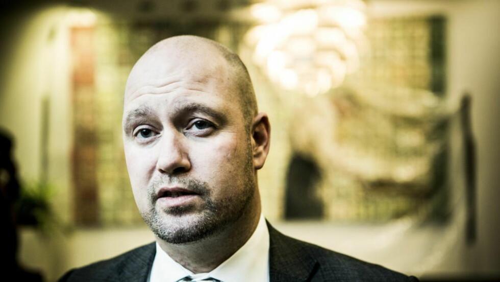 FANGET I TÅKE: Justisminister Anders Anundsen (Frp) har fått en komplisert overvåkingsproblematikk i fanget. Foto: Christian Roth Christensen / Dagbladet