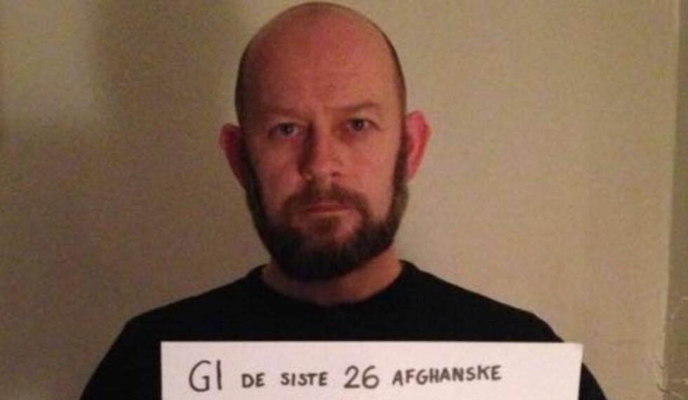 Ny kamp for veteranene: Geir Dolonen-Marthinussen er selv krigsveteran og kjemper nå en kamp for 26 tolker som har jobbet for Norge og nå sitter i Afghanistan og frykter for sine liv. Foto: Privat