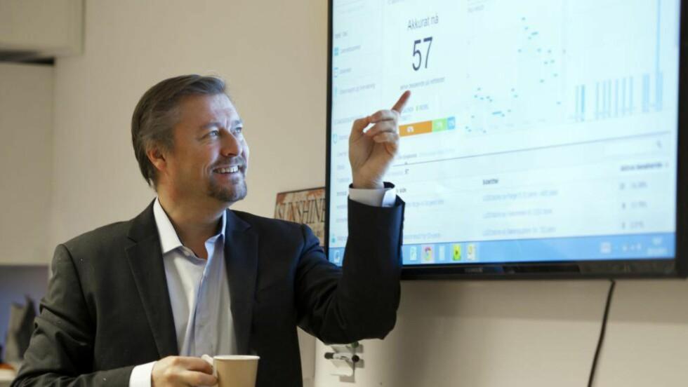 TALLMAGI:  Idar Vollvik vil selge et nummer for ti millioner kroner .Foto: Marit Hommedal / NTB Scanpix