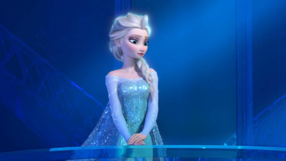 EKSTREM FORVANDLING: Prinsesse Elsa i «Frost» rømmer kongeriket for å finne seg selv - og blir en forførerisk  babe  i prosessen. Scenen fortryller småjenter og bekymrer foreldrene deres.