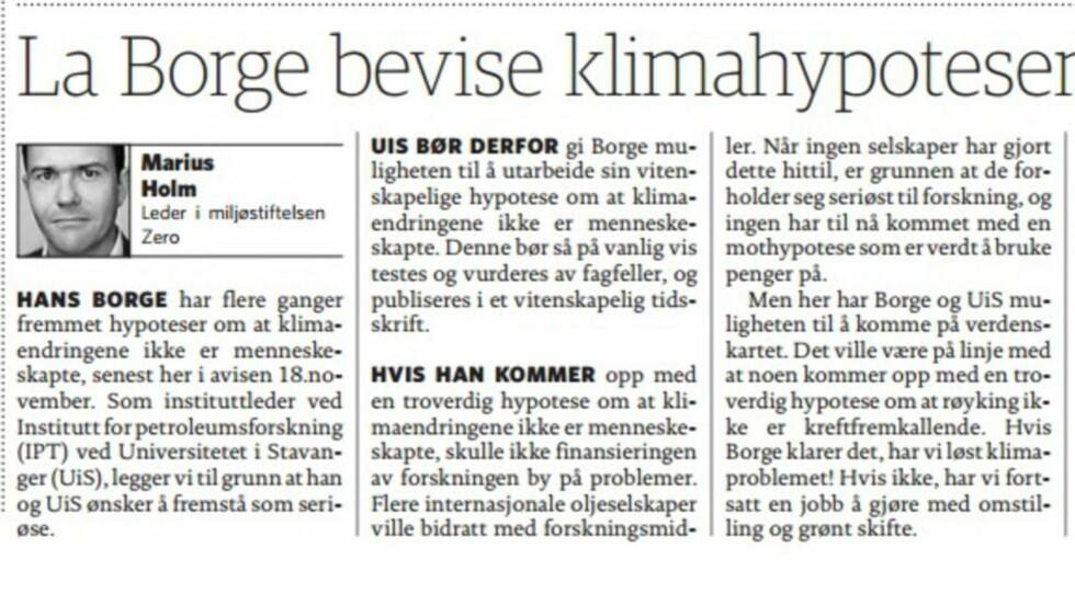 Faksimile Dagbladet 20. november.