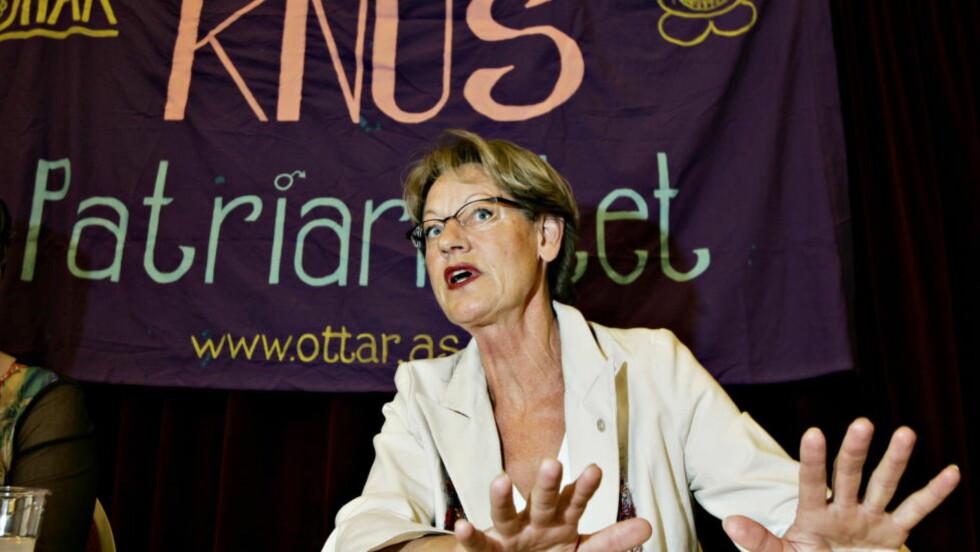 GRENSEOVERSKRIDENDE:   Leder av feministpartiet  FI i Sverige, Gudrun Schyman, har sørget for at likestillingspolitikk igjen er øverst på dagsordenen.  Foto HANSEN/JON TERJE H. Dagbladet