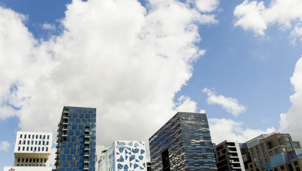 PÅ REKKE OG RAD: A-lab arkitekter har designet Barcode-planen sammen med MVRDV og Dark arkitekter. De har også tegnet tre av byggene i Bjørvika i Oslo.