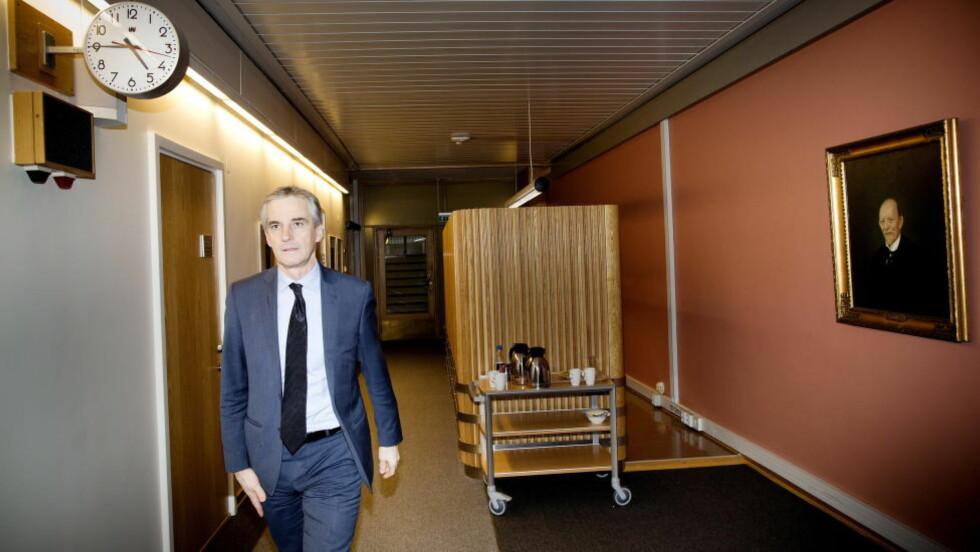 I MEDVIND:Ap-leder Jonas Gahr Støre vil bygge kulturbru til KrF og Venstre. Foto: Tomm W. Christiansen / Dagbladet
