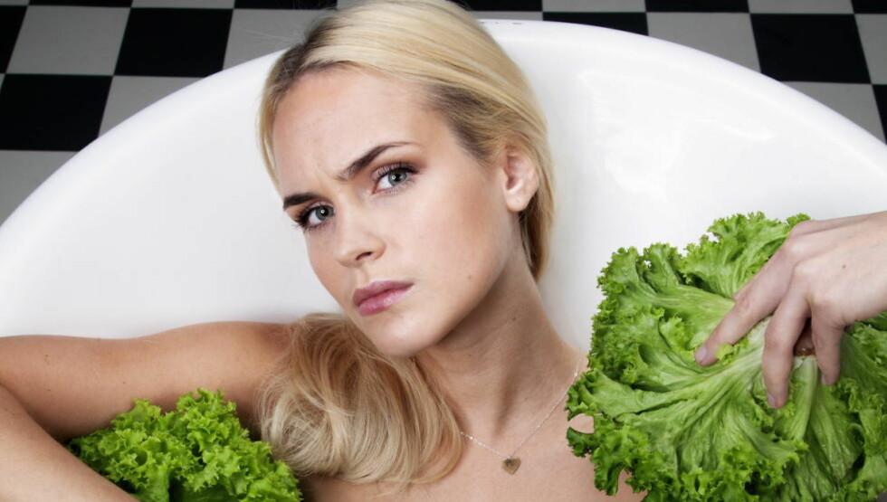 ÅPEN: Linnea Myhre har vært åpen om sine egne spiseforstyrrelser. Her fra en sak om ulike dietter i sommer. Foto: Lars Myhren Holand