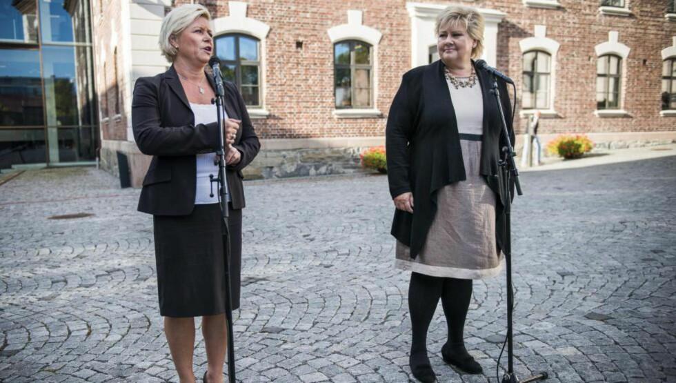 ERNA MOT SIV: Vi kan få en situasjon der landets finansminister og statsminister er steilt uenige om hvordan 20 milliarder eller mer skal brukes. Og der Høyre støtter støtte hos Ap. Foto: Endre Vellene / Dagbladet