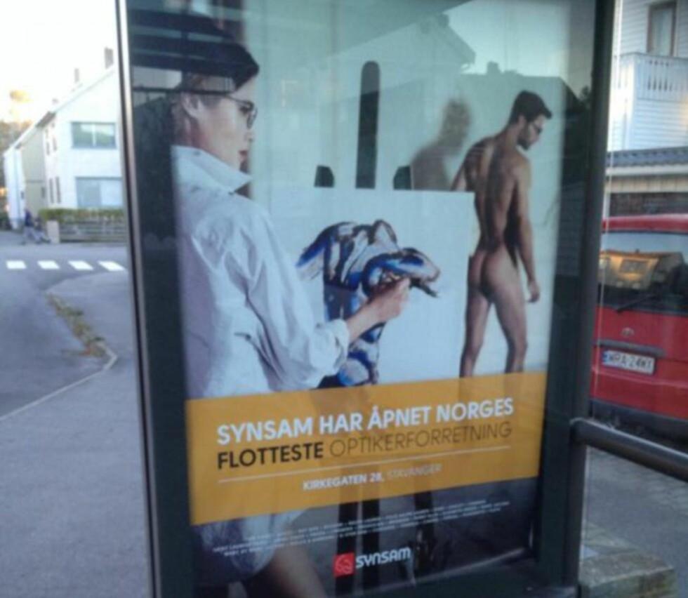 NY REKLAME: Optikerkjeden Synsam spiller på sex i sin siste reklamefilm. Foto: Charlotte Myrbråten / Fett