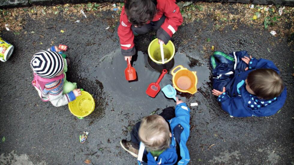 Barnehagepersonalet fortjener en god pensjon, sier utdanningsforbundet, som truer med streik. Foto: Frank Karlsen / Dagbladet