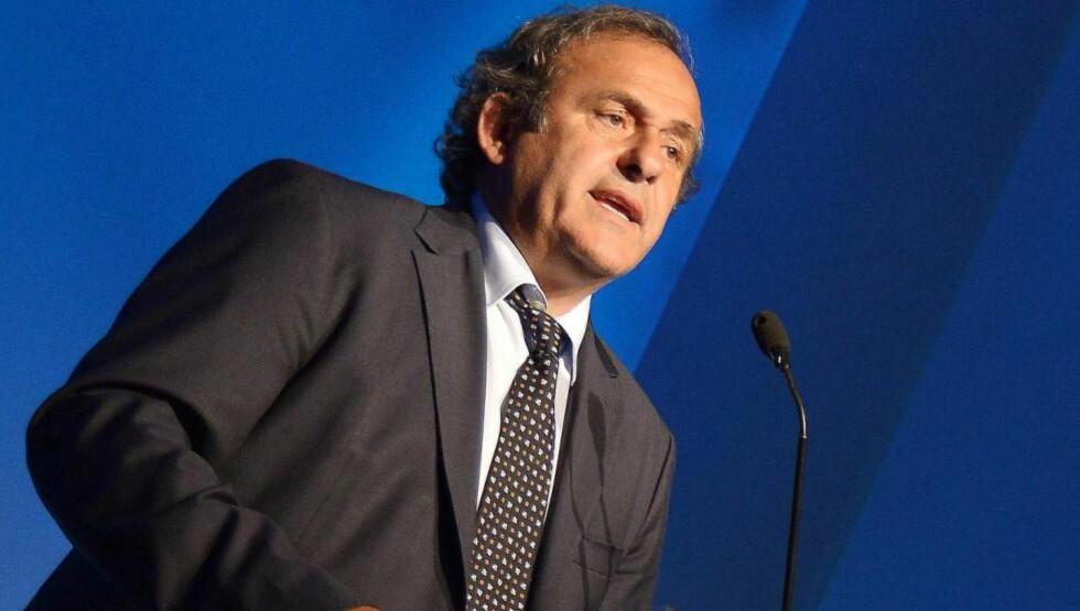 EURO 2020:  Det er 19 søkere, så UEFA, her ved Michel Platini, kan velge noen andre enn Israel 19. september.