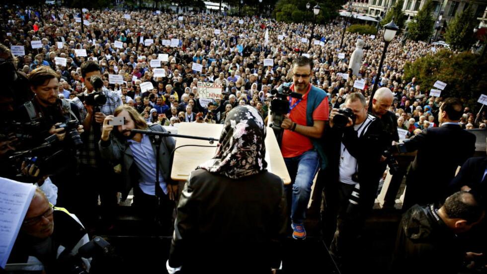 VERDIKAMP: Kampen mot ekstremisme er internasjonal, skriver artikkelforfatteren. Her fra demonstrasjonen mot IS, i Oslo,  Foto: Jacques Hvistendahl / Dagbladet