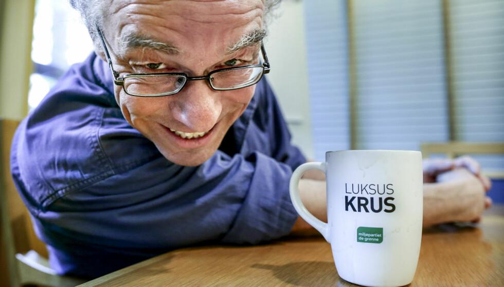 VIL GI KLIMAGAVE: Rasmus Hansson i Miljøpartiet De Grønne vil se på muligheten til å betale ut en «klimabelønning». Foto Stein J Bjørge