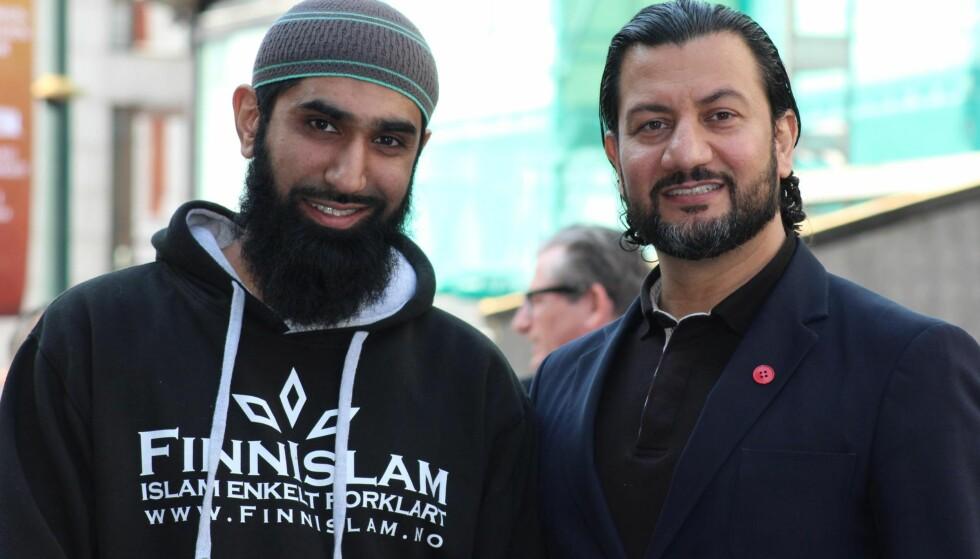 STØTTER ISLAMSK RÅD NORGE: Fahad Qureshi (t.v.), Islam Net, anerkjenner at Islamsk Råd Norge og generalsekretær Mehtab Afsar gjør mye godt for samfunnet og at kritikken mot dem er unødvendig. Foto: Abdur-Raqib