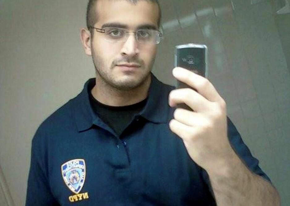 DRAPSMANNEN: Omar Mateen er identifisert som mannen som drepte 49 på homseklubben Pulse i Orlando. Mye tyder på at han selv var homofil.  Foto: Reuters / NTB Scanpix