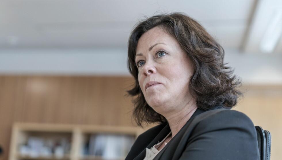 REFSET DE RØDE: Solveig Horne var blant de rødgrønnes tøffeste kritikere på barnevernssaker da hun satt på Stortinget. I regjering har hun ikke lykkes øke bevilgningene til barnevernet nevneverdig. Foto: Øistein Norum Monsen / Dagbladet