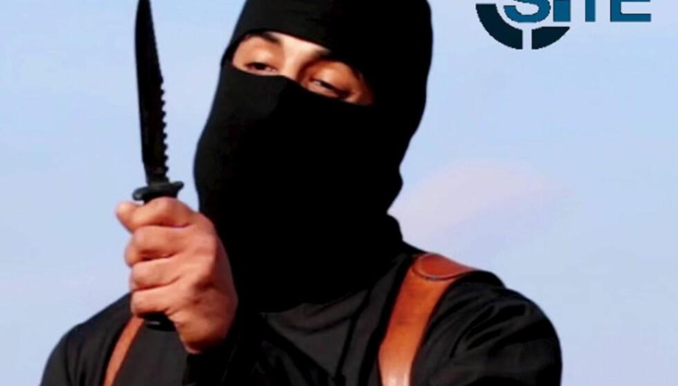 KRITISERT: Dette bildet av IS-terroristen Jihadi John preger forsiden av forfatternes felles bok. Det ble kritisert i artikkelen «Skremselspropaganda fra kunnskapens høyborg» (Dagbladet 11. juni). Foto: Reuters