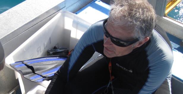 EKSPERT: NTNU-professor Trond Amundsen forsker på korallrevsfisk på Lizard Island, og regnes som en av Norges fremste eksperter på området.