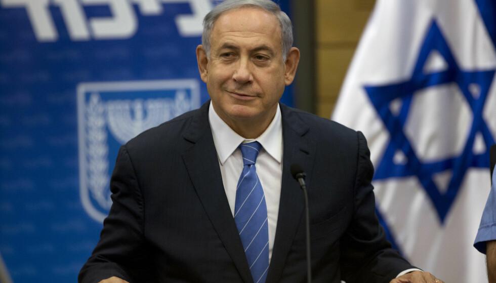 FÅR KRITIKK: Benjamin Netanyahu får refs av USA og FN for sin Facebook-video-tale. Foto: AP Photo / Sebastian Scheiner / NTB scanpix
